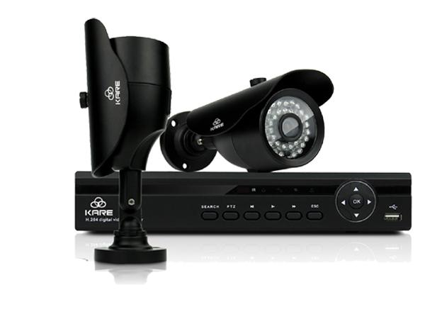 KARE® 4CH 1080N DVR Recorder SMART CCTV System with 2x Super HD 1.3MP Outdoor Cameras UPC 520870104559