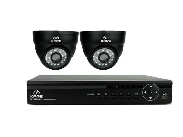 KARE 4CH 1080N HD CCTV DVR Video Surveillance Recorder Home Security Camera System w/ 2x 1.3MP Weatherproof Dome Cam, 1280x 960 Mega Pixel, Email Notification and Push Alert, P2P Technology, NO HDD , upc, 520870104160