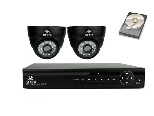 [Upgraded 960P HD] KARE 4 Channel DVR Digital Video Recorder CCTV Camera System with 2 Indoor/Outdoor Cam (1280x960,1.3Mega Pixels, Night Vision, Easy Mobile Access, Push Notifications, Black) upc 520870104139