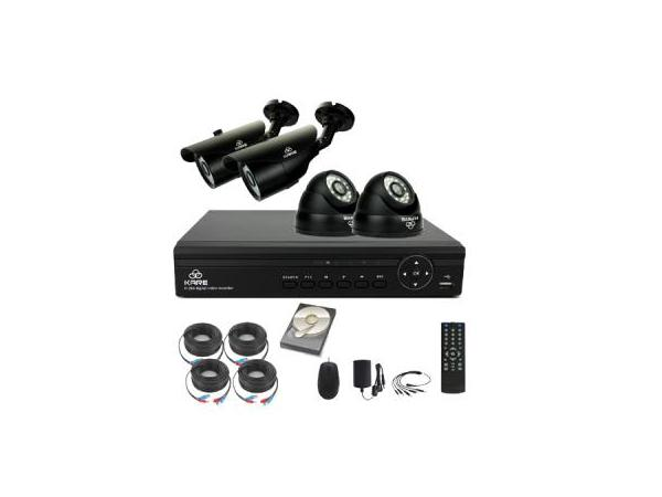 KARE 4 Channel 1080N Digital Video Recorder DVR CCTV Security Camera System Kits with 4×Outdoor/Indoor 960P 1.3MP Camera 1TB HDD (1280x 960 Mega Pixels, Superior Night Vision, Easy Remote Access), upc, 712319560921